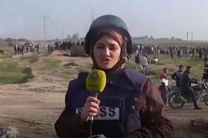 فیلم/ بیهوش شدن خبرنگار زن در غزه