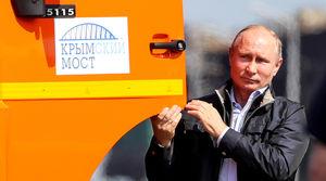 حضور پوتین در مراسم افتتاح بزرگترین پل اروپا