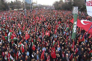 فیلم/ تظاهرات گسترده مردم ترکیه برعلیه صهیونیست ها