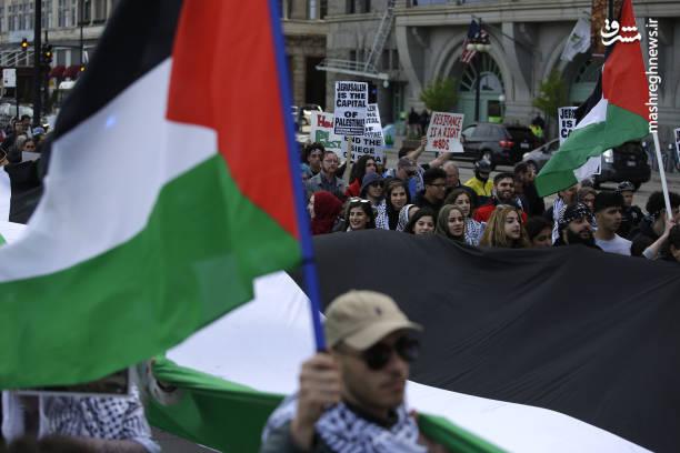 ادامه تظاهرات ضد اسرائیلی در آمریکا