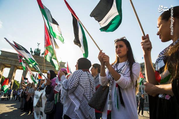 تظاهرات گسترده حمایت از فلسطین در آلمان
