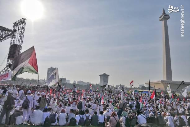 تظاهرات گسترده مردم اندونزی در حمایت از قدس