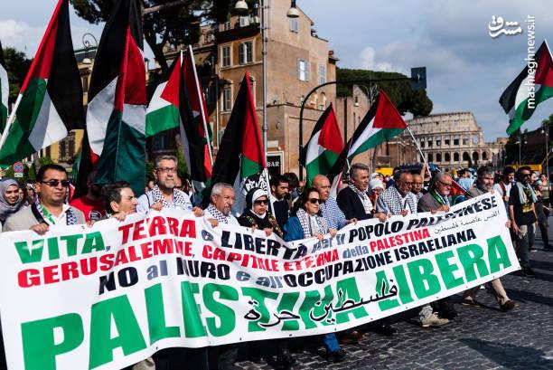 تظاهرات گسترده مردم ایتالیا در حمایت از قدس