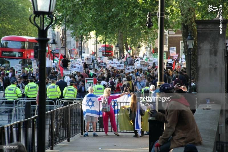 تظاهرات مردم لندن