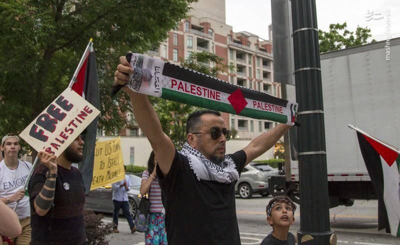 حمایت گرجستانی ها از مردم مظلوم فلسطین