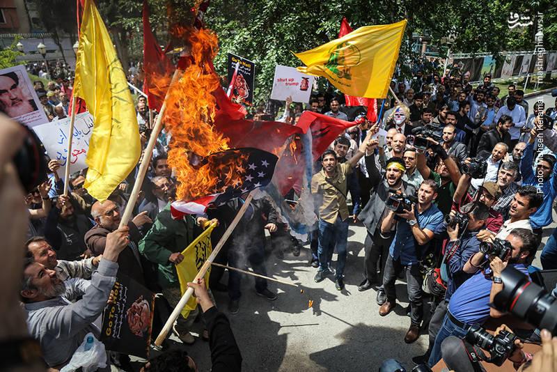 خشم مردم تهران به کشتار فلسطینی ها توسط رژیم صهیونیستی