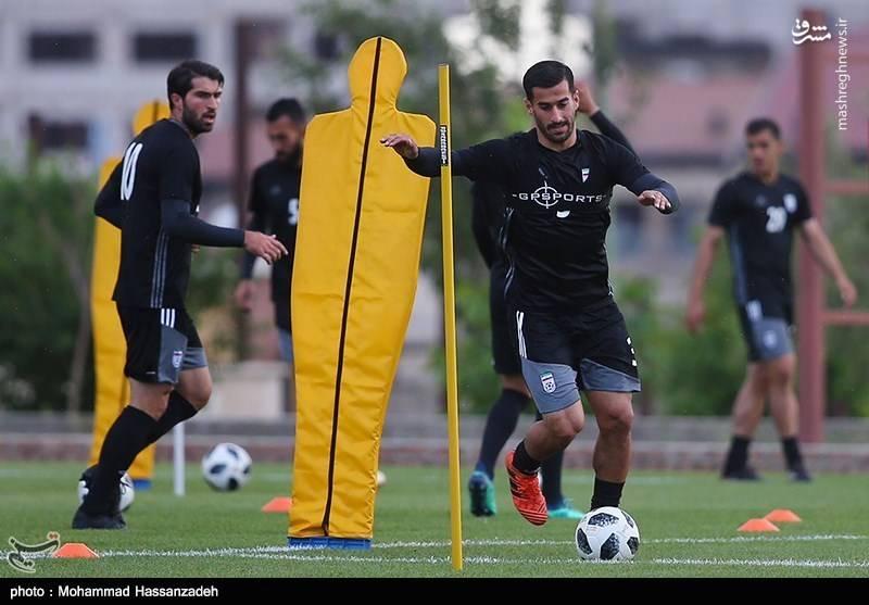 تمرین تیم ملی فوتبال