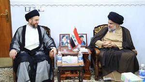صدر با «عمار حکیم» در بغداد دیدار کرد +عکس