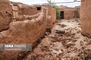 عکس/ خسارت شدید سیل به روستای هرشی