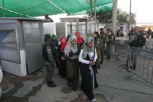 عکس/ تدابیر امنیتی شدید در بیت المقدس