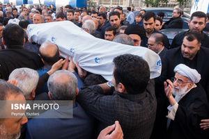 حضور چهره ها در مراسم تشییع مرحوم علیزاده