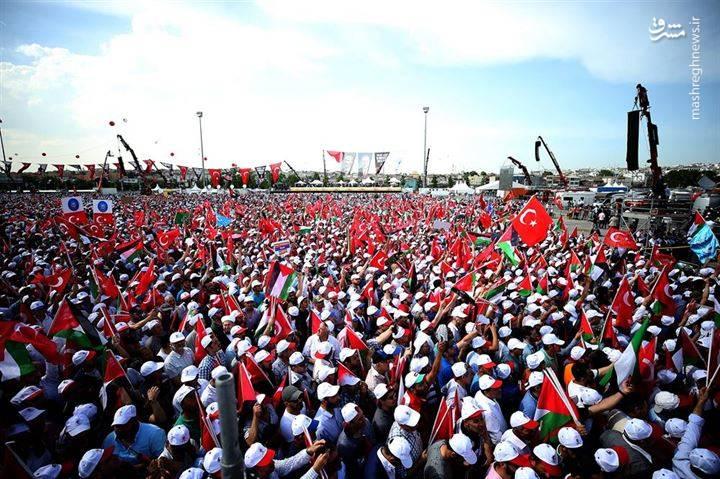 تظاهرات میلیونی مردم ترکیه در حمایت از قدس