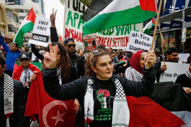 تظاهرات ضداسرائیلی در استرالیا