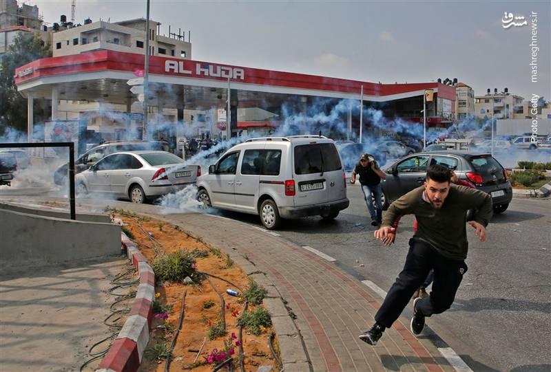 تقابل مردم در کرانه باختری با ارتش صهیونیستی در هفتادمین سالگرد «روز نکبت»
