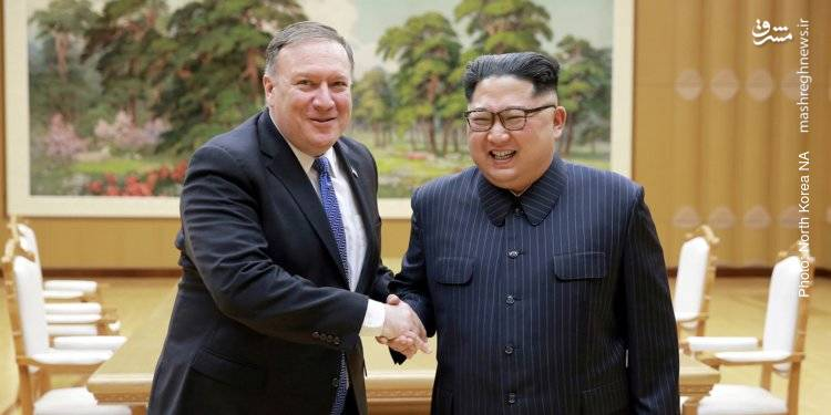 اعلام خبر لغو مانور نظامی مشترک آمریکا با کره جنوبی پس از دیدار پمپئو وزیر خارجه آمریکا با کیم جونگ اون و تهدید رهبر کره شمالی به تعویق مذاکرات صلح