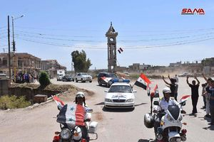 عکس/ استقبال اهالی حمص از ارتش سوریه