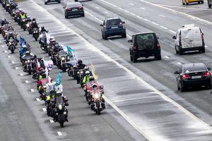 عکس/ رژه موتورسواران در مسکو