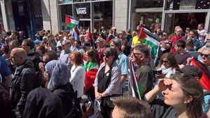 عکس/ حمایت اسکاتلندیها از مردم مظلوم فلسطین