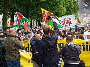 عکس/ تظاهرات مردم هلند درحمایت از ملت فلسطین