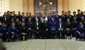 عکس/ دیدار تیم ملی فوتبال با  روحانی