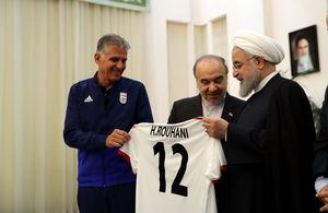 دیدار ملیپوشان فوتبال با حسن روحانی