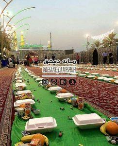 عکس/ سفره افطار در بین الحرمین