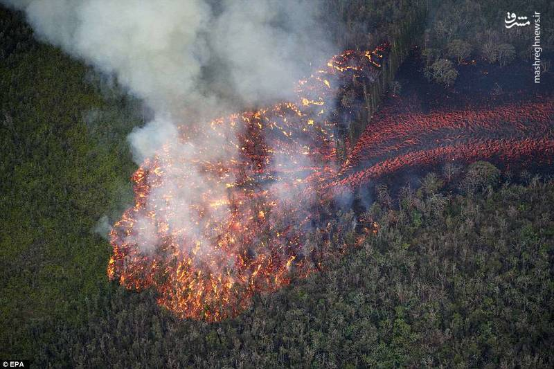 خاکستر آتشفشان تا ارتفاع 12 هزار پایی - 3700 متری - به آسمان پرتاب و باعث آلودگی آسمان جزیره هاوایی شده است