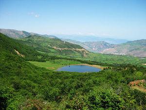 دریاچه ای بکر در دل طبیعت گیلان