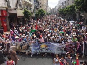 عکس/ تظاهرات گسترده مراکشی ها در حمایت از قدس