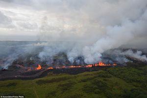 هاوایی، غرق در مواد مذاب