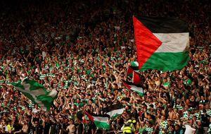 عکس/ حمایت از فلسطین به سبک فوتبالیها