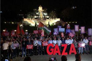 عکس/ ادامه تظاهرات ضداسرائیلی در حیفا