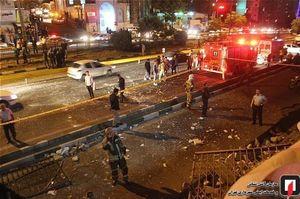 وقوع انفجار مهیب در بزرگراه اشرفی اصفهانی/تخریب کامل ساختمان ۳ طبقه + تصاویر