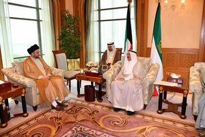 عمار حکیم با امیر کویت دیدار و گفتگو کرد