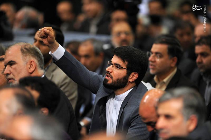 میثم مطیعی در دیدار مسئولان با رهبر انقلاب