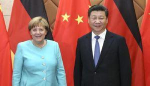 چین و آلمان  - مرکل و شی جین پینگ