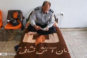 عکس/ ماه رمضان در ایستگاه آتشنشانی