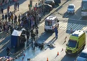 فیلم/ انفجار مرگبار موتورسیکلت پس از تصادف