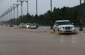 بارش شدید باران در عمان