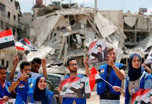 عکس/ جشن آزادسازی حجرالاسود در جنوب دمشق
