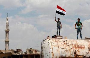 جشن آزادسازی حجر الاسود در جنوب دمشق