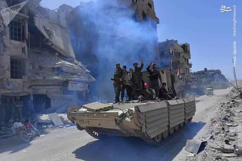 کنترل کامل یرموک توسط ارتش سوریه
