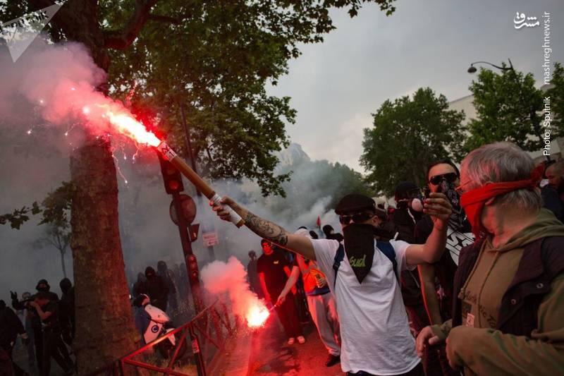 اعتراض به پرداختیهای پایین از سوی جوانان و کارگران فرانسه در ماه جاری میلادی که همواره یادآور جنبش مه 1968 بوده است.