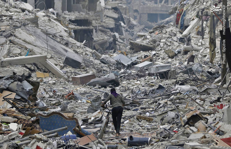 محله حجرالاسود در نزدیکی یرموک پس از تجربه یک جنگ شهری تمام عیار
