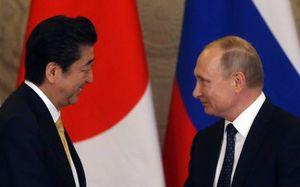 دیدار نخستوزیر ژاپن با پوتین