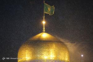 بارش رحمت الهی در مشهد مقدس