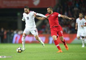 نیمه اول دیدار تیم ملی ایران مقابل ترکیه