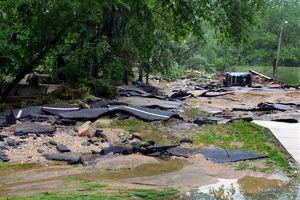 مریلند آمریکا در باران غرق شد
