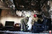 گرفتار شدن مادر و ۲ بچه در میان آتش +عکس