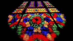 عکس/ بازی نور و رنگ در مسجد نصیرالملک